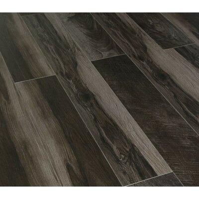"Urban View 7"" X 49"" X 12mm Laminate Flooring In Black (set Of 5)"