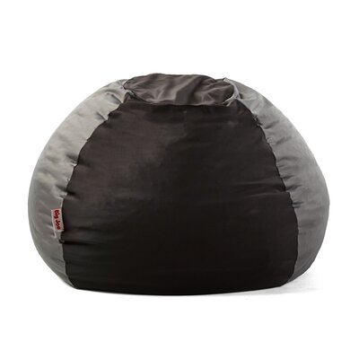 Big Joe Kushi Bean Bag Chair Upholstery: Jet Black/Charcoal Gray