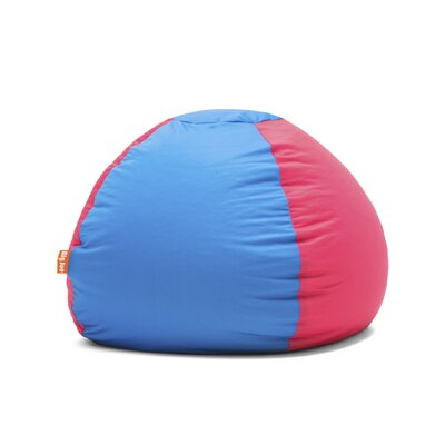 Big Joe Kushi Bean Bag Chair Upholstery: Carmine Rose/Alaskan Blue