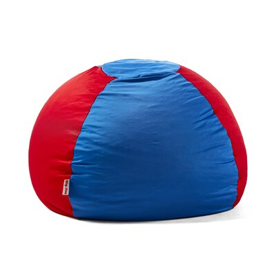 Big Joe Kushi Bean Bag Chair Upholstery: Victoria Blue/Racing Red