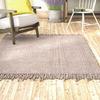 Lookout Fiber Hand-Woven Gray Area Rug Rug Size: Rectangle 5 x 8