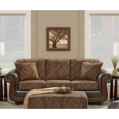 Boaz Wooden Cappuccino Sofa