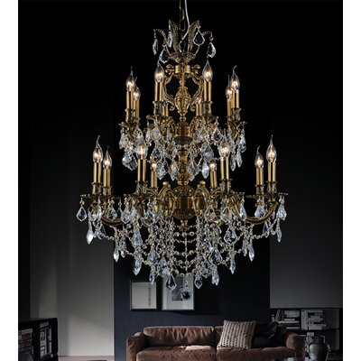 16-Light Candle-Style Chandelier
