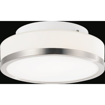 Frosted 1-Light Flush Mount
