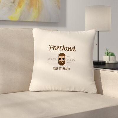 Juan Paolo Original Hipster Typography Outdoor Throw Pillow Size: 18 H x 18 W x 5 D