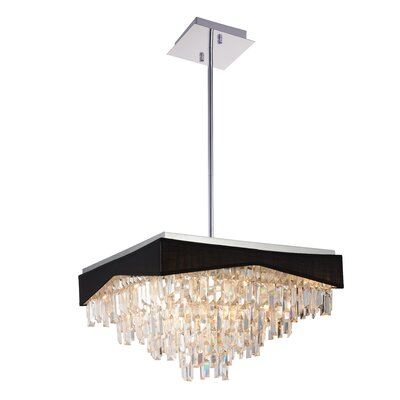 Havely 17-Light Crystal Chandelier Finish: Black