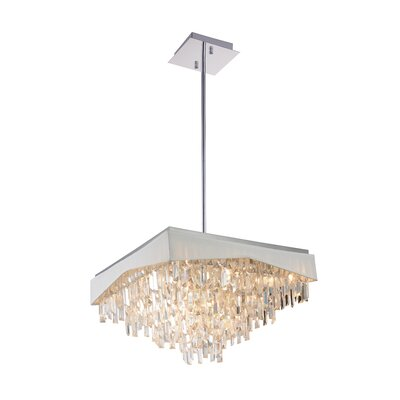Havely 17-Light Crystal Chandelier Finish: White
