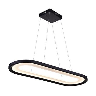 Capel 1-Light LED Geometric Pendant Finish: Black