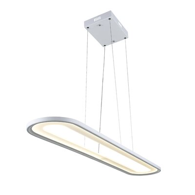 Capel 1-Light LED Geometric Pendant Finish: White