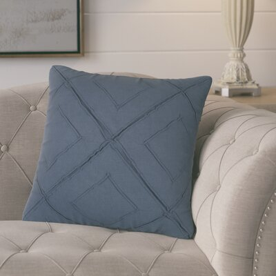 Kingsburg Decorative 100% Cotton Throw Pillow Color: Indigo