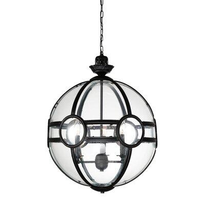 Beas 3-Light Globe Pendant Finish: Black