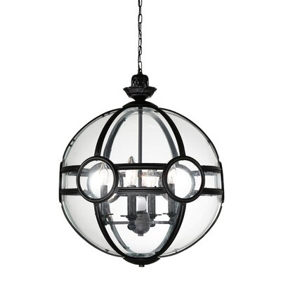 Beas 5-Light Globe Pendant Finish: Black
