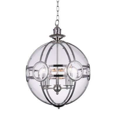 Beas 5-Light Globe Pendant Finish: Chrome