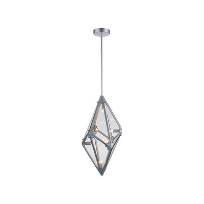 Pento 8-Light Geometric Pendant Finish: Silver, Size: 24 H x 11 W x 11 D