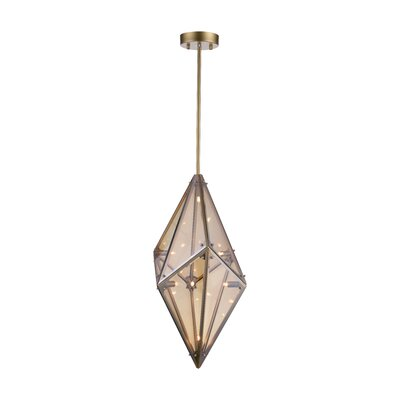 Pento 8-Light Geometric Pendant Finish: Champagne, Size: 29 H x 15 W x 15 D