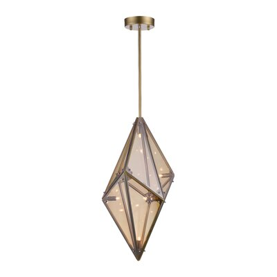 Pento 8-Light Geometric Pendant Finish: Champagne, Size: 29 H x 15 W x 15 D
