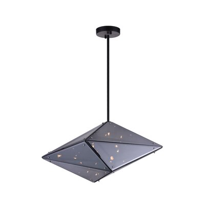Pento 8-Light Geometric Pendant Finish: Black, Size: 11 H x 24 W x 11 D