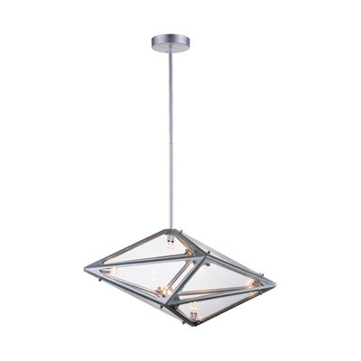 Pento 8-Light Geometric Pendant Finish: Silver, Size: 11 H x 24 W x 11 D