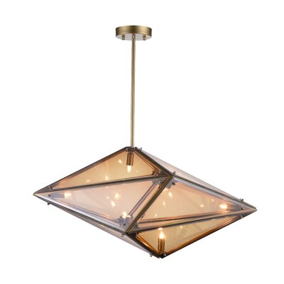 Pento 8-Light Geometric Pendant Finish: Champagne, Size: 11 H x 24 W x 11 D