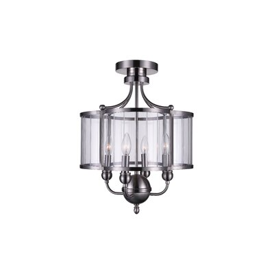 Renishaw 4-Light Semi Flush Mount