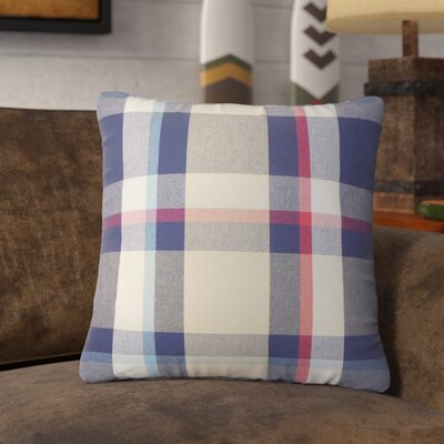 Hagins Plaid Cotton Throw Pillow Color: Red/Blue