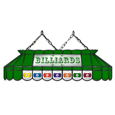 Camacho Billiard 3-Light Pool Table Light Shade Color: Green