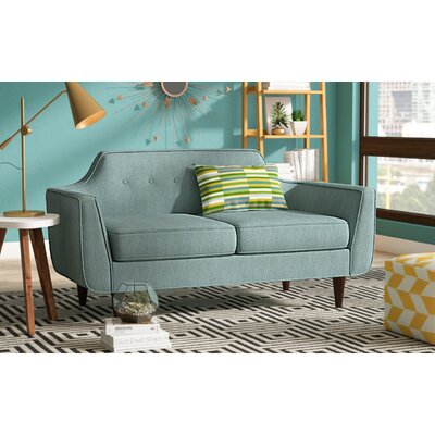 Ewing Loveseat Upholstery: Teal