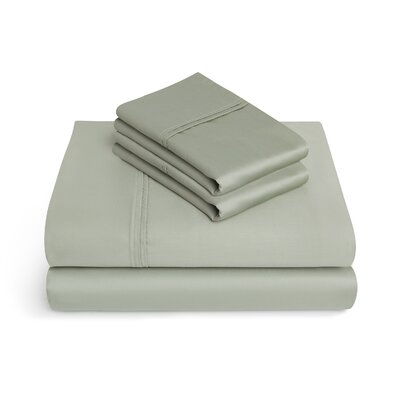 Craney 625 Thread Count 4 Piece 100% Cotton Sheet Set Size: Queen, Color: Fern Green