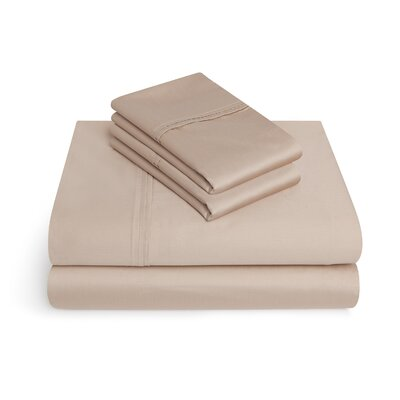 Craney 625 Thread Count 4 Piece 100% Cotton Sheet Set Size: King, Color: Oxford Tan