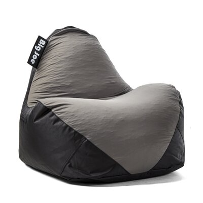 Big Joe Warp Bean Bag Chair Upholstery: Black/Gray