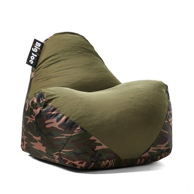 Big Joe Warp Bean Bag Chair Upholstery: Camo/Green