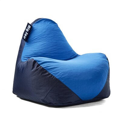 Big Joe Warp Bean Bag Chair Upholstery: Navy/Blue