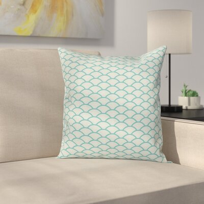 Narrow Striped Circular Square Pillow Cover Size: 18 x 18