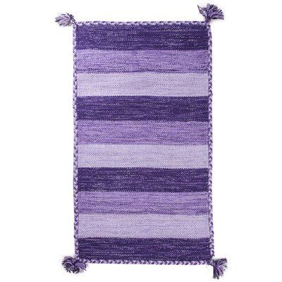 Pilcher Absorbent 100% Cotton Bath Rug Color: Purple
