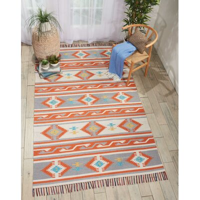 Rocky Hand-Woven Ivory/Gray Area Rug Rug Size: Rectangle 36 x 56