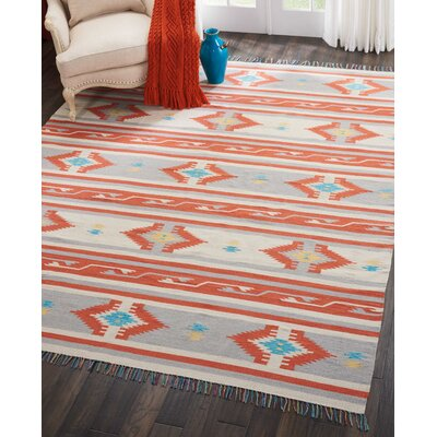 Rocky Hand-Woven Ivory/Gray Area Rug Rug Size: Rectangle 66 x 96