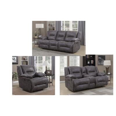 Creech Motion 3 Piece Living Room Set Type: Power