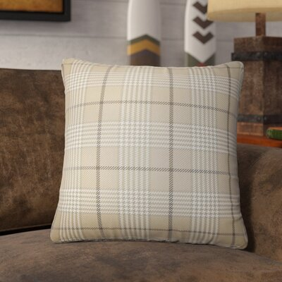 Theron Houndstooth Cotton Throw Pillow Color: Mushroom