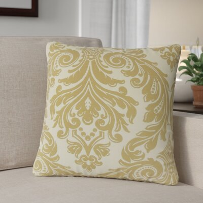 Deweese Damask Throw Pillow Color: Camel