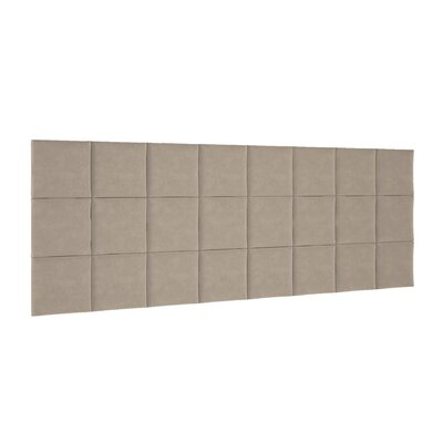 Chenault Upholstered Panel Headboard Upholstery: Beige