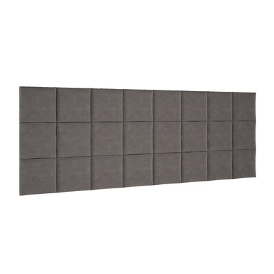 Chenault Upholstered Panel Headboard Upholstery: Gray