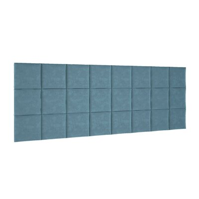 Chenault Upholstered Panel Headboard Upholstery: Blue