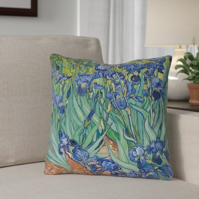 Morley Concealed Zipper Irises Square Throw Pillow Size: 18 x 18