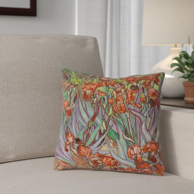 Morley Irises Double Sided Print Throw Pillow Size: 18 x 18, Color: Orange