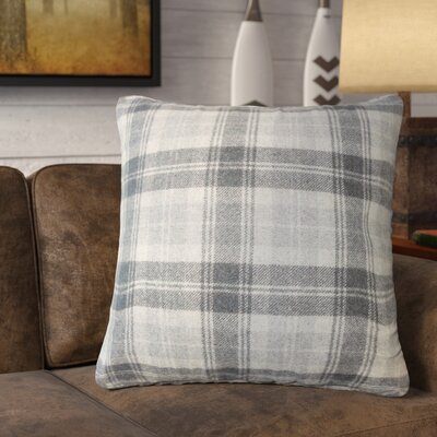Althoff Plaid Down Filled Velvet Throw Pillow Size: 18 x 18, Color: Charcoal
