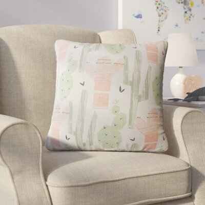Skive Graphic Cotton Throw Pillow Color: Green