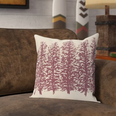 Amak Through the Woods Flower Print Throw Pillow Size: 18 H x 18 W, Color: Purple