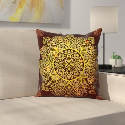 Mandala Pillow Cover Size: 18 x 18