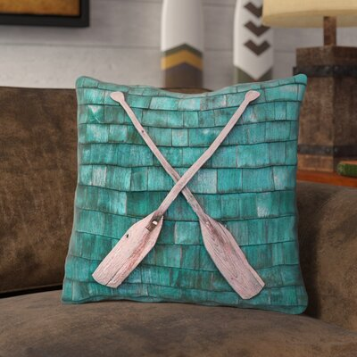 Brushton Rustic Oars Throw Pillow Size: 14 x 14