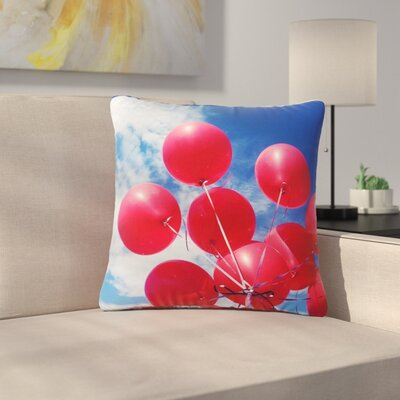 99 Love Outdoor Throw Pillow Size: 18 H x 18 W x 5 D